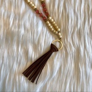 Beautiful Boho Fringe Tassel Beaded Necklace NWT